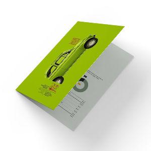 Буклет А5 в А6 1 фальц пополам